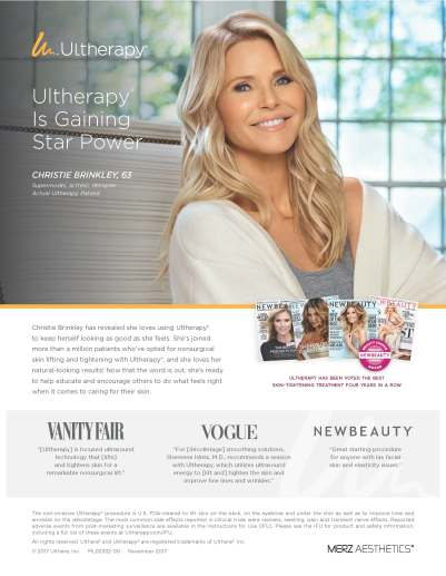 Christie Brinkley Ultherapy